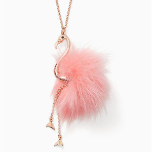 KATE SPADE By The Pool Flamingo Pendant Necklace